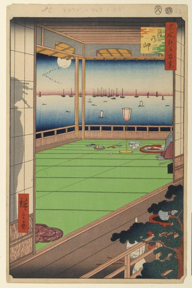 Pohled na Měsíc, č. 82 ze série 100 slavných pohledů na Edo, 1856. Zdroj: brooklynmuseum.org