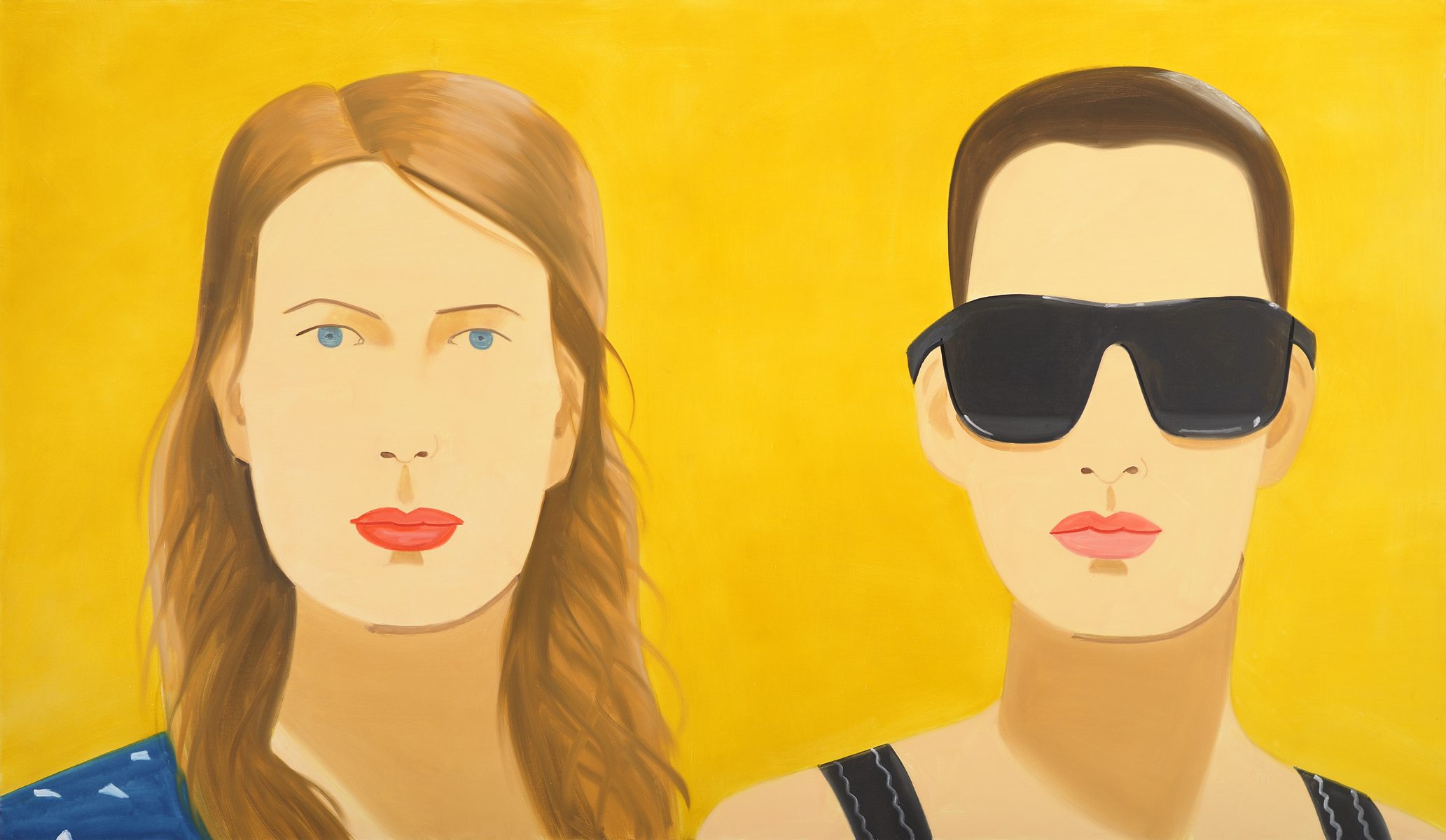 Alex Katz, Sharon and Vivien.