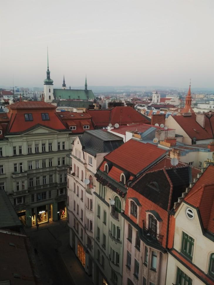 Pohled z brněnské radnice